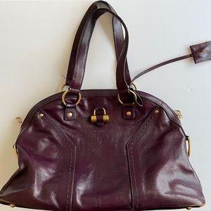 saint laurent ysl purple muse shoulder bag